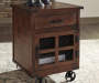 Norlandon Brown Square End Table lifestyle