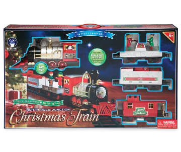 north pole junction christmas train 34 piece set big lots - North Pole Junction Christmas Train