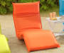 ORANGE FOLDABLE LOUNGE CHAIR