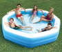 Octagonal Family Pool 10 Feet Outdoor Setting with Models Lifestyle Image