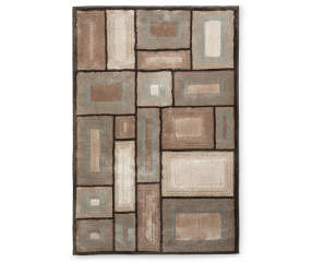 Living Colors Tan Amp Turquoise Geometric Area Rug 5 X 7