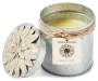 Orange Blossom Tin Candle with Flower silo front lid off