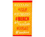 Orange Hashtag Beach Towel 34 inches x 64 inches silo front