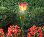 Orange Tulip Flower Solar Yard Stake lifestyle