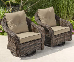 Wilson Amp Fisher Palermo All Weather Wicker Glider Patio