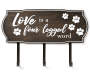 PET WALL PLAQUE HOOKS HOME