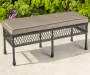 PINEHURST ALL WEATHER WICKER BENCH WITH CUSHION