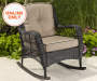 PINEHURST ALL WEATHER WICKER ROCKER WITH CUSHIONS