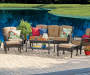PINEHURST RESIN WICKER 6 PC SEATING SET - CTN #2 SOFA, COFFEE TABLE