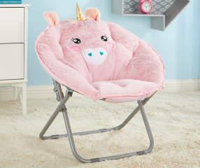 Dream Street Pink Unicorn Youth Saucer Chair Big Lots