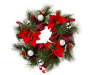 POINSETTIA BUFFALO CHECK WREATH