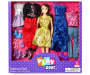 PZ GLAM BRUNETTE DOLL FASHION SET