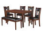 Padded 6-Piece Dining Set Silo Image