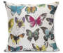 Painted Butterfly Throw Pillow Overhead View Silo Image