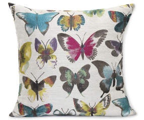 Painted Butterfly Throw Pillow 20 Quot X 20 Quot Big Lots