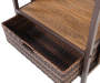 Palermo All Weather Wicker Beverage Cart silo top view