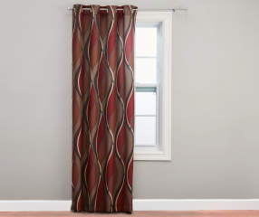 Living Colors Paprika Intersecting Curtain Panel 84