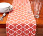 Paprika Ironwork Table Runner with Props on Table Room View