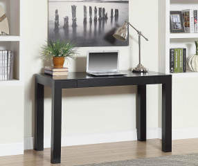 Parsons 48 Quot Black Desk Big Lots