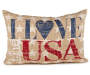 Patriotic I Love U.S.A. Decorative Pillow Silo Image