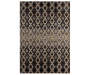 Percy Black and Tan Art Deco Area Rug 5 Feet by 7 Feet 3 Inches Overhead View Silo Image