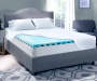 Perfect Sleeper 3 Inch Gel Swirl Full Memory Foam Topper On Bed Lifestyle Image