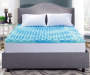 Perfect Sleeper 3 inch Gel Swirl King Memory Foam Topper Bedroom Full Pad Showing Lifestyle Image