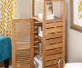 Pierce Bamboo 5 Shelf Mid Cabinet lifestyle