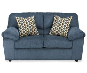 Signature Design By Ashley Pindall Denim Blue Loveseat Big Lots