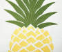 Pineapple Embroidery Outdoor Throw Pillow 20in x 20in front swatch