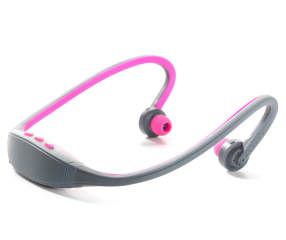 polaroid pink bluetooth headphones armband fitness kit. Black Bedroom Furniture Sets. Home Design Ideas