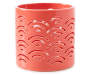 Pink Cut Out Pattern Ceramic Votive Candle Holder silo front