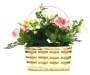Pink Hydrangea Faux Floral Hanging Basket