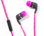 Pink Lace Stereo Earbuds Silo