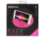 Pink Neon Bluetooth Dock Speaker in Package Silo Image