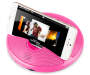 Pink Neon Dock Speaker with iPhone Silo Image