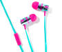 Pink and Blue Vortex Stereo Earbuds Silo
