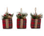Plaid Presents Ornaments 3-Pack Silo