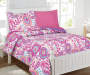 Planet Snooze Charlotte Floral Twin Bed In A Bag on Bed Room View