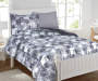 Planet Snooze Gray Burton Twin Bed In A Bag on Bed Room View