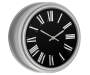 Plated Zinc Wall Clock 10 Inches Angled View Silo Image