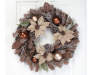Poinsetia Wreath with Pine Cones and Ornaments 26 Inches on Door