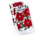 Poinsettia Christmas Kitchen Towels 2 Pack Stacked and Fanned Silo Image