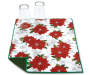 Poinsettia Christmas Reversible Dish Drying Mat Corner Folded with Cups Silo Image