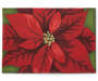 Poinsettia Tapestry Christmas Placemat Overhead Shot Silo Image