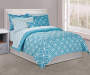 Pool Tile 8 Piece Queen Comforter Set on Bed Room View