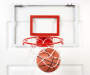 Pro Style Basketball Hoop with Break Away Rim Set Out of Package On Door With Ball Silo Image