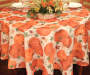 Pumpkin Harvest Round Fabric Tablecloth 60 Inches on Round Table Room View