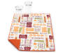 Pumpkin Patchwork Reversible Dish Drying Mat Corner Fold with Glasses Silo Image