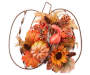 Pumpkin Wire Berry Wall Piece with Pumpkin and Pinecone Display Silo Image